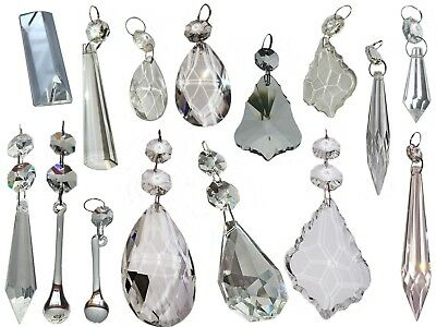 Cut Glass Crystals Chandelier Droplets Wedding Drops Beads Light Spare Parts 5