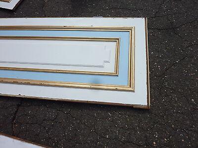 "circa 1902 painted pine WAINSCOT paneling raised panels 27/28"" x 27, 55, 61 & 72 7"