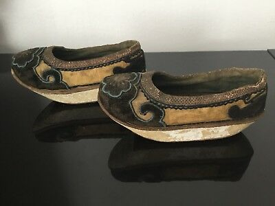 11addb8825da42 ... Antique Chinese Foot Binding Shoes Original Last 19thC Chaussures  Chinoises XIXè 2