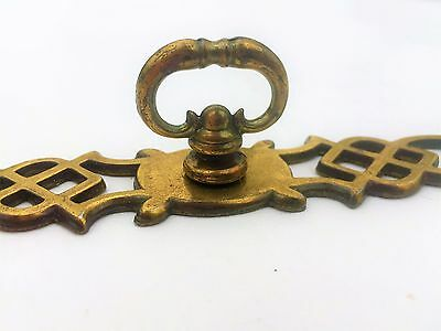 French Provincial Antique Hardware Vintage Drawer Pull Knob Brass Cabinet Pull 2