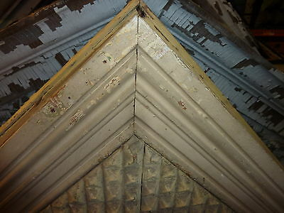 "UNIQUE c1870 VICTORIAN gingerbread WINDOW door gable pediment 57 x 27 x 4 7/8"" 5"