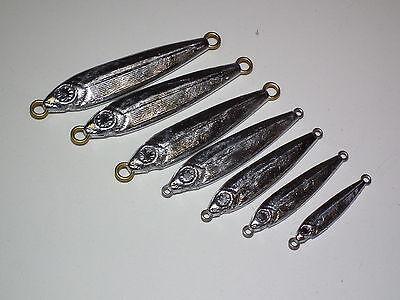 SALTWATER FISH JIG mold 1/8,1/4,3/8,1/2,5/8,3/4,7/8oz CNC Aluminum Ice  Fishing