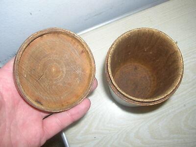 Uralte Vorratsdose , Holzdose , Apothekerdose , Kaffeedose aus Holz um 1900 3