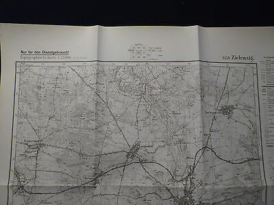Landkarte Meßtischblatt 3556 Zielenzig i.d. Neumark / Sulęcin Weststernberg 1940