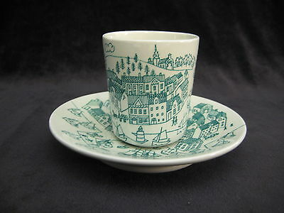 Vintage Nymolle Art Faience Hoyrup Denmark Limited Edition 4006 Cup & Saucer Set