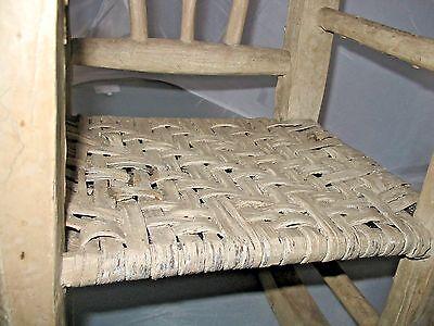 Fantastic Childs Rocking Chair Primitive Cane Seat Indiana Hickory Uwap Interior Chair Design Uwaporg