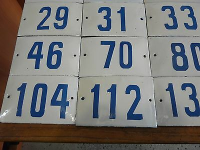 Big Choice ( 2 to 188 ) Vintage Porcelain Enamel Tin Sign Street House Numbers 5