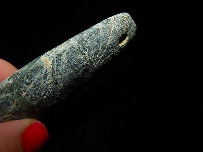Pre-Columbian Jade Celt Pendant, Beautiful Shape, Authentic, Costa Rica 8
