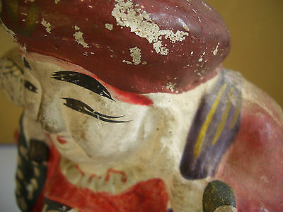 Japan vintage clay doll Mahakala One of the Seven Lucky Gods antique #12104 4