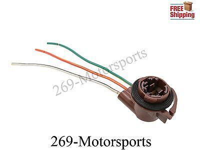 2pcs 3157 4157 Type Socket LED Bulbs Turn Signal Brake Tail Light Wire Harness