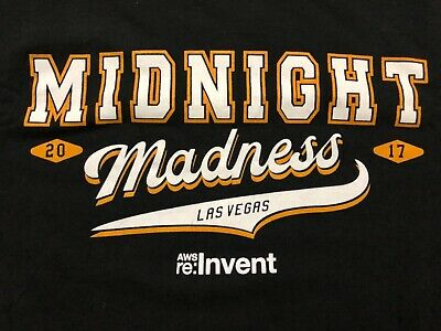 AMAZON Web Services AWS:re:PLAY Midnight Madness T Shirt 2XL Used 2