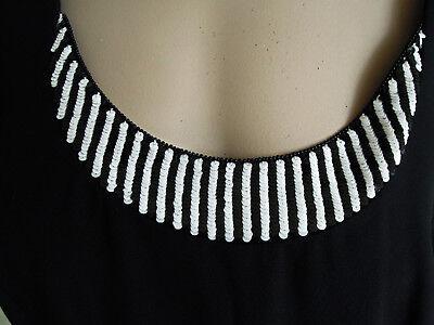 Kleid Abendkleid Escada Couture Gr. 36 schwarz weiß Pailletten edel LUXUS PUR 7