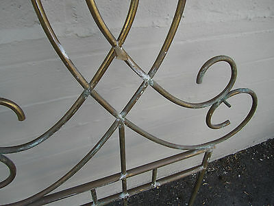 Unique Vintage Antique Brass Architectural Ornament Wall Garden Décor Headboard 9