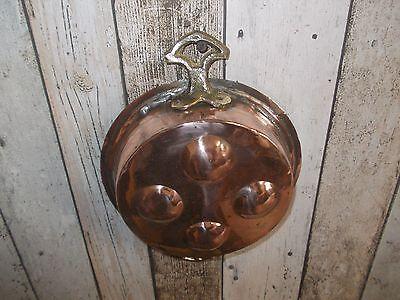 schöne  alte Kupfer Pfanne,Kupferpfanne,Eierpfanne,Schneckenpfanne,Pfanne 2