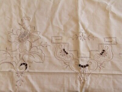 Mantel Antigua Colada de Mesa Antiguo Mobiliario Bordado Decoración Flores 6