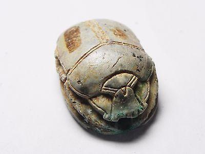 Zurqieh -Tat118-  Ancient Egypt, Huge New Kingdom. Stone Scarab 1400 B.c 3