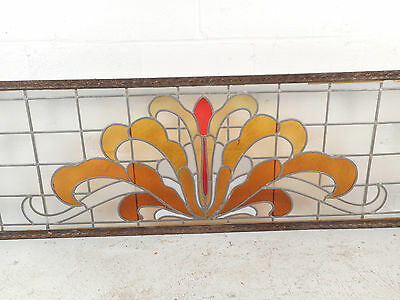 Large Vintage Stained Glass Window (1512)NJ 4