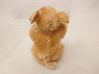 MES-52286Älterer Steiff Hamster H:ca.9cm mit Holzwollstopfung mit Knopf, 8