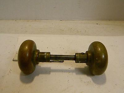 """Antique Victorian Brass Door Handles 2.25"""" x 2"""" Very Good Condition 3"""