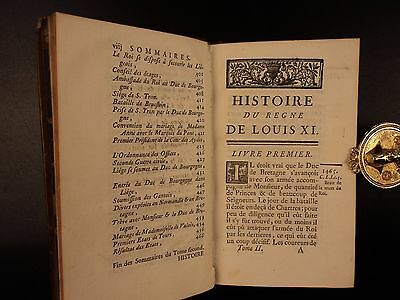 1755 1st ed History of Reign of Louis XI FRANCE Valois Charles the Bold 6v SET 7