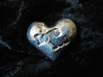 "2 TR/OZ MK BARZ ""I LOVE YOU"" HEART.999 Fine Silver HAND POURED 3"
