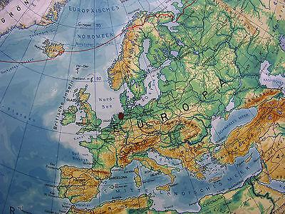 Schulwandkarte schöne alte Nördliche Erdhälfte Arktis 170x177c vintage map ~1957 2