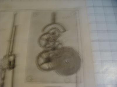 "Original engraving 1760's 10 1/2 x 16"" Pendule a Secondes 2"