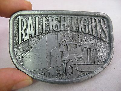 Vintage Mens Belt Buckle: RALEIGH LIGHTS Truck Semi 2