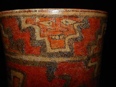 Pre-Columbian Polychrome Three-Footed Mayan Ceramic Pot, Authentic, Rare 12