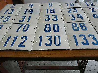Big Choice ( 2 to 188 ) Vintage Porcelain Enamel Tin Sign Street House Numbers 7