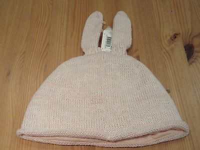 Next Girls Bunny Ears Bow Winter Hat lined Knit 5 - 6 years BNWT Pink Wool Hat 5