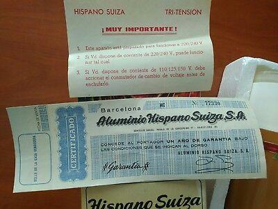 Hispano Suiza VINTAGE molinillo café ELÉCTRICO VER Fotos. Más de 70 años y nuevo 6