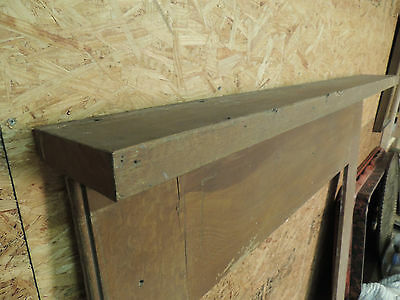Antique 19c American Grain Painted Fireplace Mantel - Pine & Square Nail VR 8