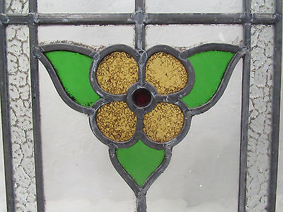 Pair of Vintage Antique Stained Glass Windows (2723)NJ 3
