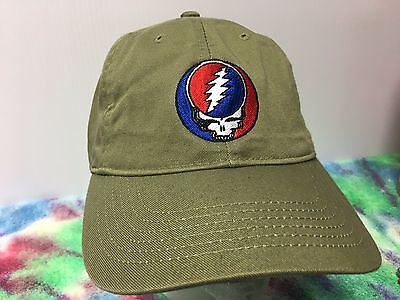 Grateful Dead Steal Your Face Embroidered Low Profile Organic Cotton Ball Cap 12