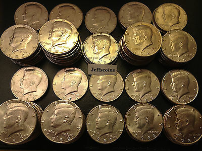 1980-1989 P D Kennedy Half Dollar 1 Coin From 80's Old Original US Mint 50¢ Lot 2