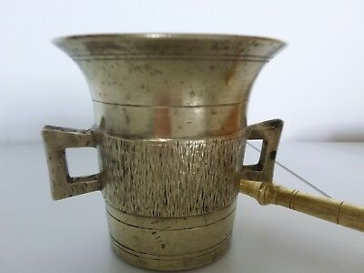 Antiker Apothekenmörser mit Pistill - BRONZE- 19.Jahrhundert / BIEDERMEIER 2