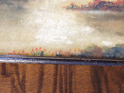 Antique Early 20th Century Signed / Monogrammed Watercolor Landscape Painting 7