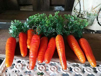 18 x Möhren Karotten 6.5cm Schneemann Nase Dekoration Ostern Gemüse Kunstgemüse 6
