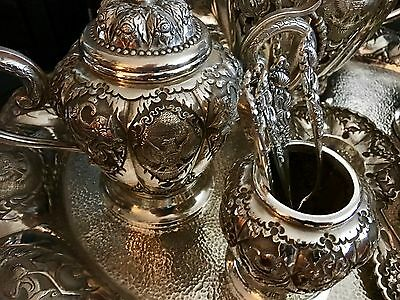 """S/Silver""""925""""Seven Piece Tea & Coffee Service + 1kiloBar.9999PureSilverPerthMint 5"""