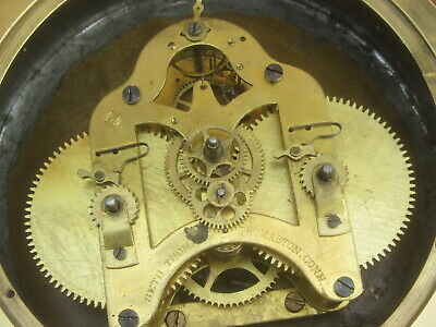 Brass Ships Clock By Whyte Thompson & Co Glasgow 7