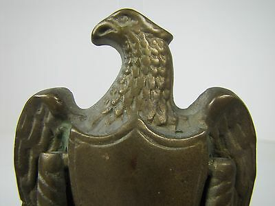 Old Brass Figural Eagle Door Knocker architectural hardware mid sized detailed 2