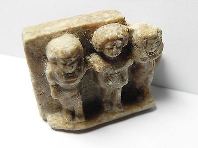 Zurqieh - Af26- Ancient Egypt. Triad Stone Plaque. Old Kingdom 4