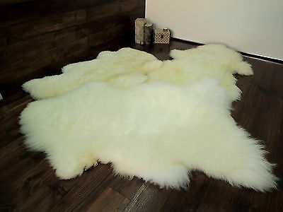 Soft 100% Genuine Natural Sheepskin Rug - Pet Bed - Dog - Cat - Silky Warm Wool