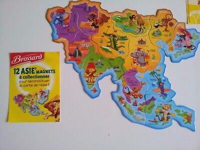 Carte Afrique Brossard.Magnets Brossard Afrique Asie Bresil Europe Ameriques