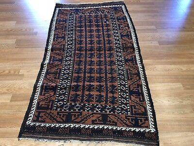 Beautiful Balouch - 1930s Antique Rug - Tribal Carpet - 3 x 5.6 ft. 5