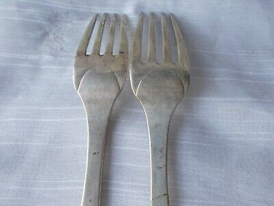 2 FREDERIK JULIUS BRINCK 1856 DINNER FORKS Norway 830 Sterling flatware 5