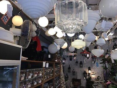 "New Artdeco Shade Lamp Glass Gallery Fitter 8 1/4"" Fitting Victorian Light Part 4"