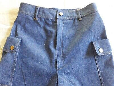 Short Bermuda jean chambray enfant 9a VINTAGE 70 CHILD DENIM BERMUDA SHORTS 9Y 2