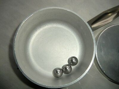 Wolfsiffer´s Pulvermisch-Dose rund komplett mit 3 Kugeln aus Aluminium 3
